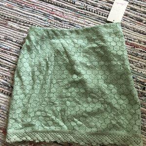 Lace mint skirt
